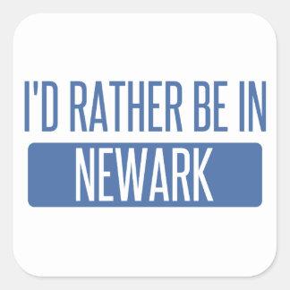 I'd rather be in Newark NJ Square Sticker