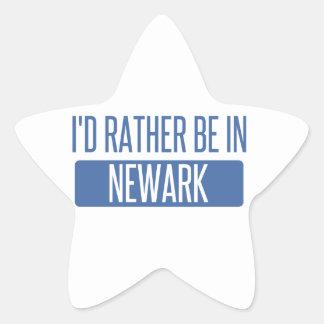 I'd rather be in Newark NJ Star Sticker