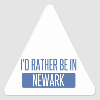 I'd rather be in Newark NJ Triangle Sticker
