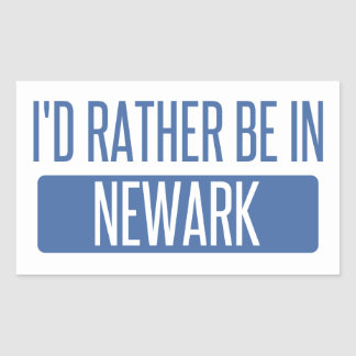 I'd rather be in Newark OH Rectangular Sticker