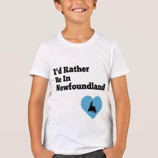 I'd Rather be in Newfoundland (blue heart) T-Shirt