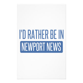 I'd rather be in Newport News Stationery