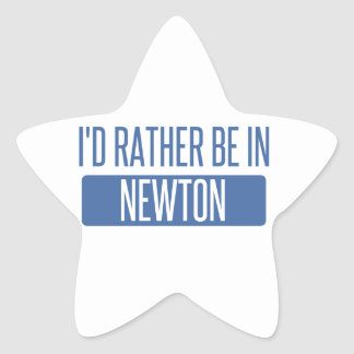 I'd rather be in Newton Star Sticker