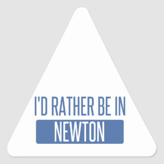 I'd rather be in Newton Triangle Sticker