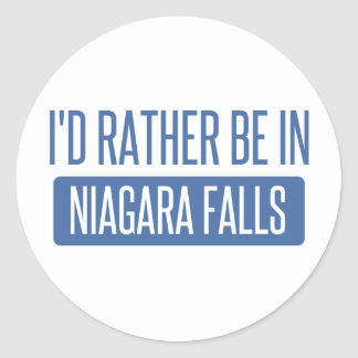 I'd rather be in Niagara Falls Classic Round Sticker