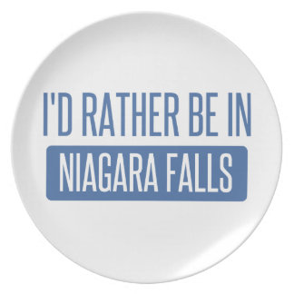 I'd rather be in Niagara Falls Plate