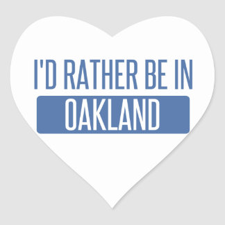 I'd rather be in Oakland Park Heart Sticker
