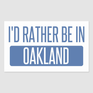 I'd rather be in Oakland Park Rectangular Sticker