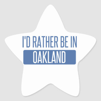 I'd rather be in Oakland Park Star Sticker