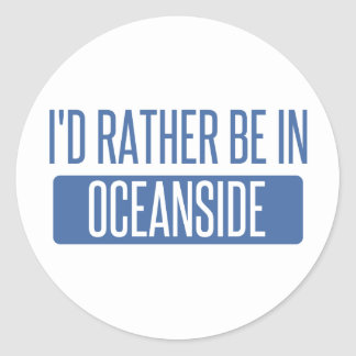 I'd rather be in Oceanside Classic Round Sticker