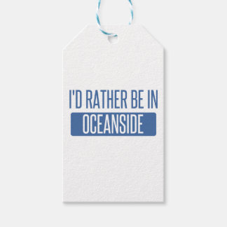 I'd rather be in Oceanside Gift Tags