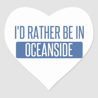 I'd rather be in Oceanside Heart Sticker