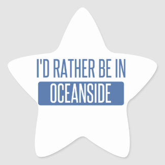 I'd rather be in Oceanside Star Sticker