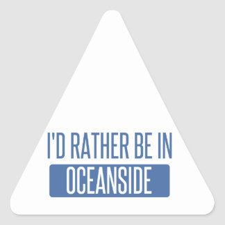I'd rather be in Oceanside Triangle Sticker