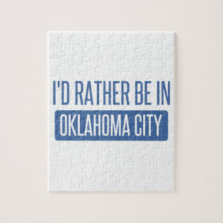 I'd rather be in Oklahoma City Jigsaw Puzzle