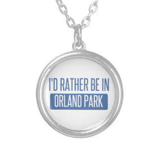 I'd rather be in Orland Park Silver Plated Necklace