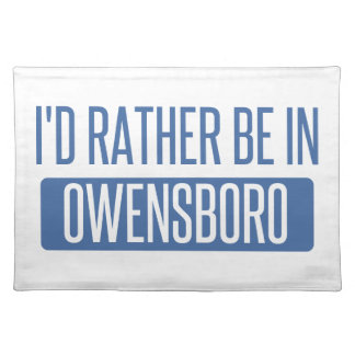 I'd rather be in Owensboro Placemat