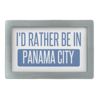 I'd rather be in Panama City Rectangular Belt Buckle