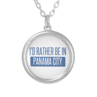 I'd rather be in Panama City Silver Plated Necklace