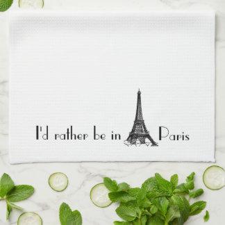 I'd Rather Be In Paris Hand Towel