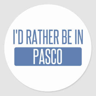 I'd rather be in Pasco Classic Round Sticker