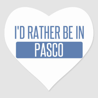 I'd rather be in Pasco Heart Sticker