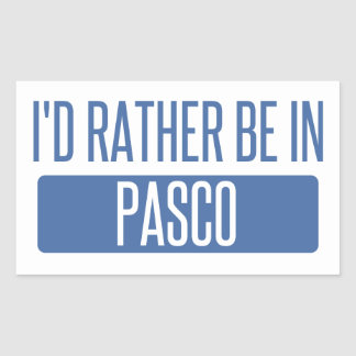I'd rather be in Pasco Rectangular Sticker