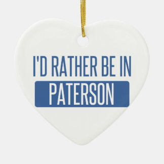 I'd rather be in Paterson Ceramic Heart Decoration