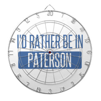 I'd rather be in Paterson Dartboard