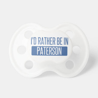 I'd rather be in Paterson Dummy