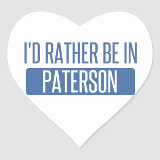 I'd rather be in Paterson Heart Sticker
