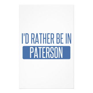 I'd rather be in Paterson Personalised Stationery