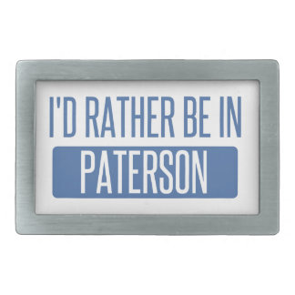 I'd rather be in Paterson Rectangular Belt Buckle