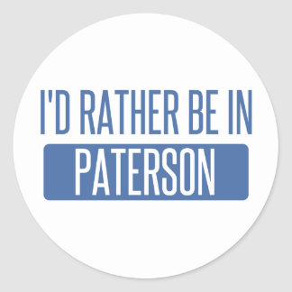 I'd rather be in Paterson Round Sticker