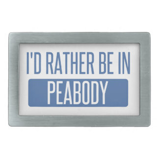 I'd rather be in Peabody Rectangular Belt Buckles