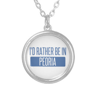 I'd rather be in Peoria IL Silver Plated Necklace
