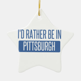 I'd rather be in Pittsburgh Ceramic Star Decoration