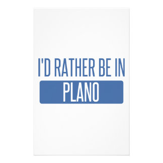 I'd rather be in Plano Stationery