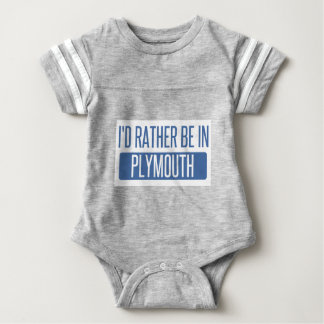 I'd rather be in Plymouth Baby Bodysuit