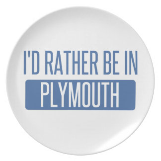 I'd rather be in Plymouth Plate