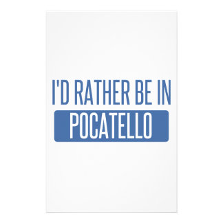 I'd rather be in Pocatello Stationery