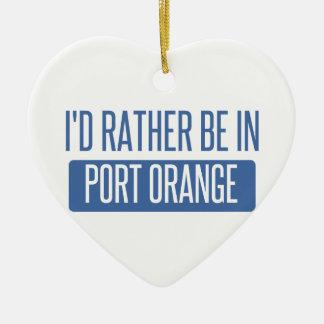 I'd rather be in Port Orange Ceramic Ornament