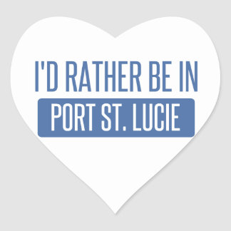 I'd rather be in Port St. Lucie Heart Sticker