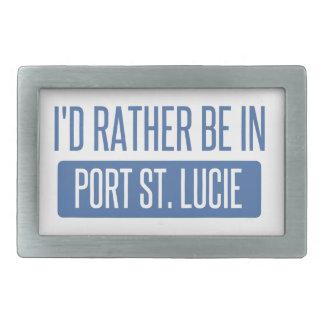 I'd rather be in Port St. Lucie Rectangular Belt Buckles