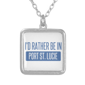 I'd rather be in Port St. Lucie Silver Plated Necklace