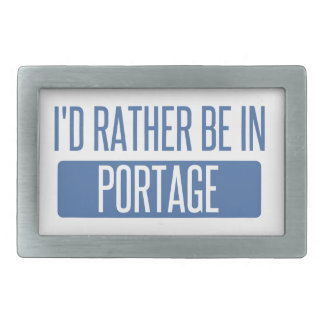 I'd rather be in Portage IN Belt Buckle