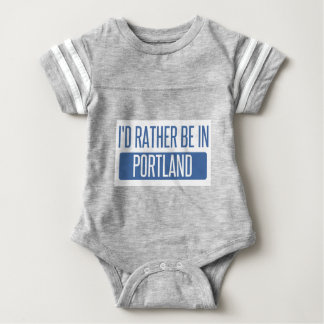 I'd rather be in Portland ME Baby Bodysuit
