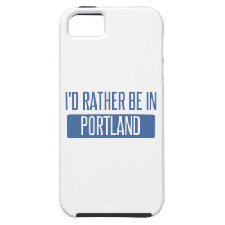 I'd rather be in Portland ME iPhone 5 Case