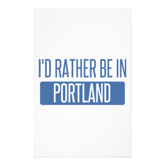 I'd rather be in Portland ME Stationery