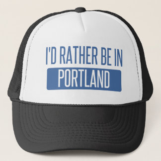 I'd rather be in Portland ME Trucker Hat